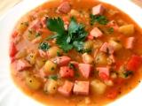 Zeleninový guláš s uzeninou recept