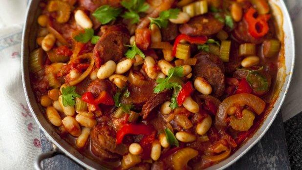 Andaluské fazole s chorizem