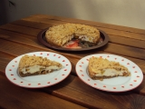 Ořechový koláč s tvarohem a ovocem recept