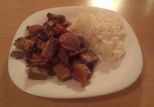 Kuřecí nudličky s tofu