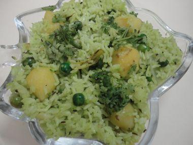 Rýže s hráškem a sýrem