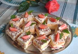 Piškotové – jahodové řezy recept