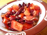 Fazolový salát s rajčaty a paprikou recept