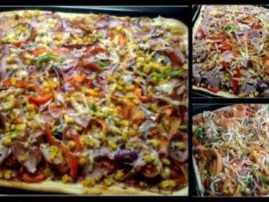 Pizza z lístkového těsta