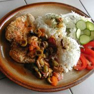 Kuřecí prsa na olivách a rajčatech recept