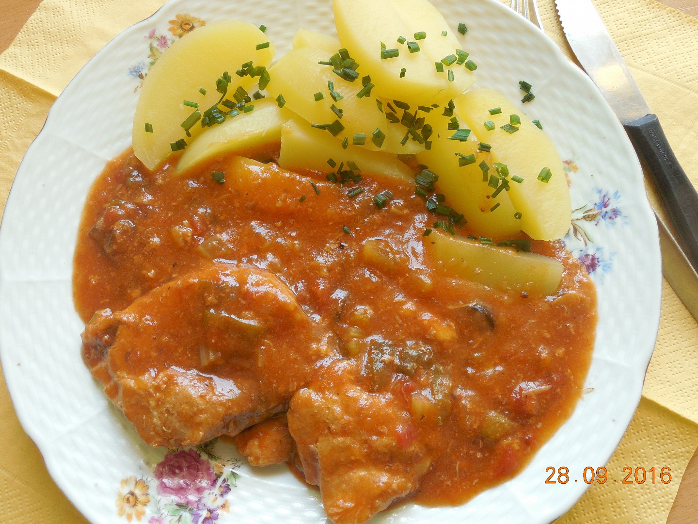 Vepřové s olivovou omáčkou recept