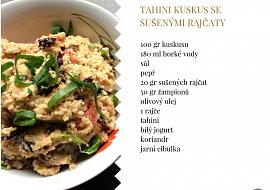 Tahini kuskus se sušenými rajčaty recept