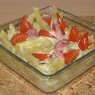 Zapečené těstoviny v bešamelu s rajčaty recept