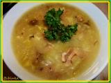 Dobrá salátová polévka na slanině s Hermelínem a žampiony recept ...