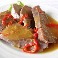 Vepřový jazyk s pikantní omáčkou recept