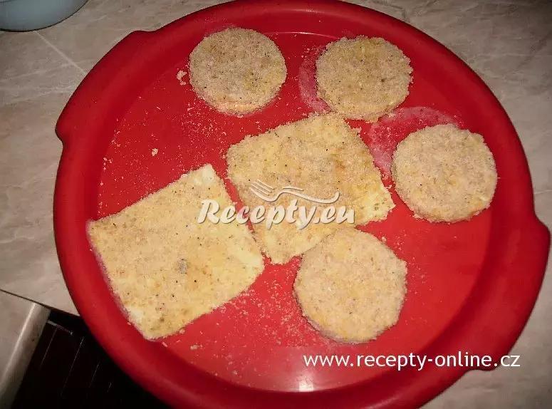 Smažený hermelín recept  sýrové pokrmy