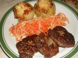 Ostré kuřecí placičky se zapečenou cibulí  dělená strava (zvířátka ...