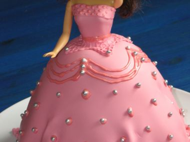 Růžová princezna  dort