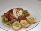 Na zelenině pečená, kozím sýrem plněná, kuřecí prsa recept ...