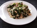 Špenátové rizoto s krevetami recept