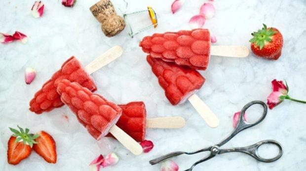 Popsicles  jahoda, růže, šampaňské