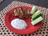 Kuřecí špízy kebab s jogurtovým dipem recept