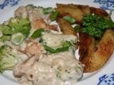 Kuřecí kousky s Nivou a brokolicí recept