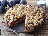 Švestkový koláč s pekanovými ořechy recept