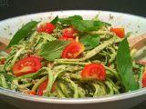 Cuketové špagety s bazalkovým pestem recept