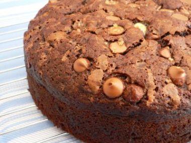 Chlebový dort s mandlemi