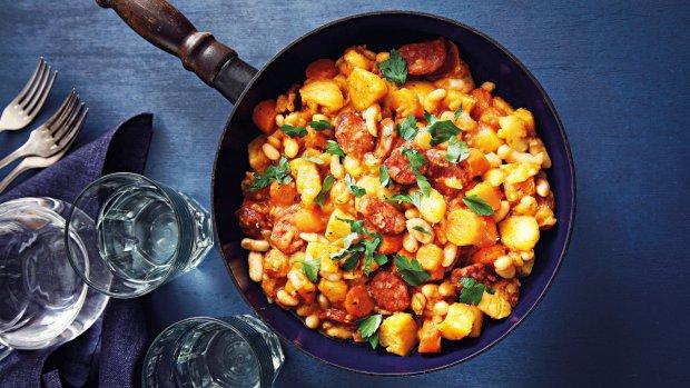 Eintopf s fazolemi a bramborami