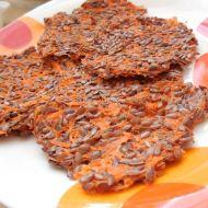 Lněné placičky s mrkví recept