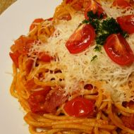 Rajčatové špagety recept