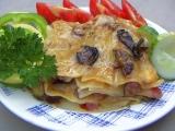 Houbové lasagne recept