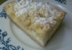 Jablkový tvarohový koláč