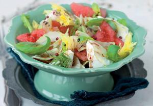 Italský melounový salát s mozzarellou