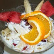 Těstovinový salát s ovocem recept