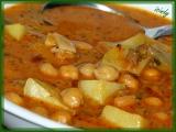 Polévka s cizrnou, pórkem, bramborem recept