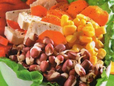 Salát s adzuki  dia 131g sacharidů