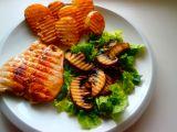 Kuřecí steak a salát s portobellem recept
