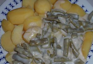 Zavařené fazolky nakyselo