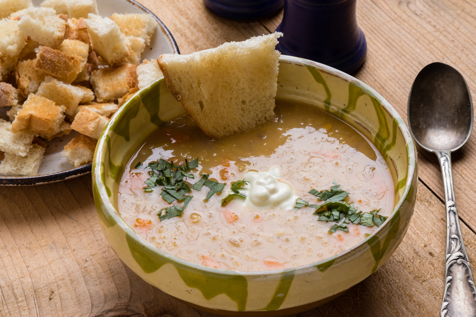Čočková polévka s majoránkou recept