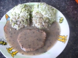 Brokolicová rýže s hovězím na houbách-dietně recept