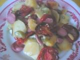 Zelenina zapečená s párkem recept