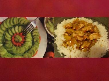 Krůtí nudličky s okurkovým salátem