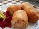 Smažené pirohy s kuřecím masem recept