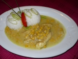 Kuřecí plátek na kari s kukuřicí recept
