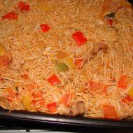 Čínské nudle se zeleninou a kuřecím masem recept