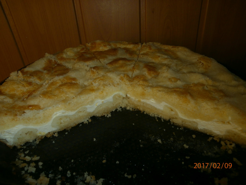 Sypký tvarohový koláč recept
