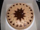 Čokoládový dort s pařížskou šlehačkou, nutellovým krémem a ...