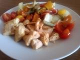 Kuřecí maso s pečenou zeleninou recept