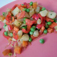 Bramborovo-zeleninová pánev recept