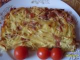 Špagety zapečené s uzeným masem recept