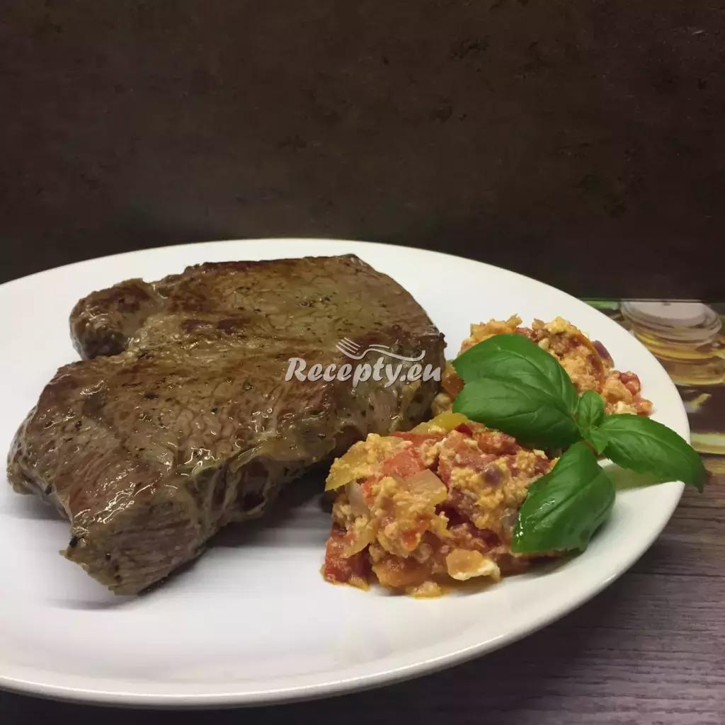 Hovězí steak na pepři recept  hovězí maso