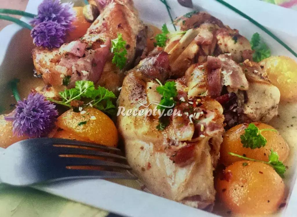 Králík na meruňkách recept  králičí maso